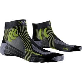 X-Socks Marathon Retina Chaussettes Homme, black melange/effektor green